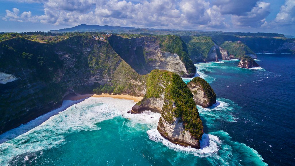 The Kelingking Beach in Nusa Penida, Indonesia. Visit SoutheastAsia.