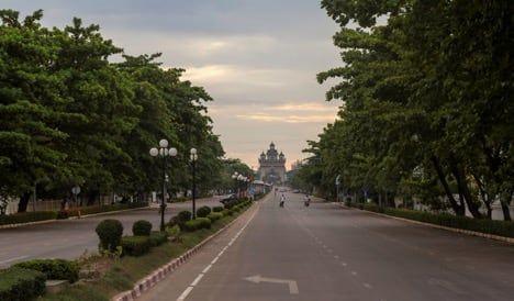 Patuxai arch in Vientiane, Laos / Visualhunt