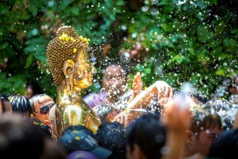 Songkran celebrations are found countrywide during the three-day holiday