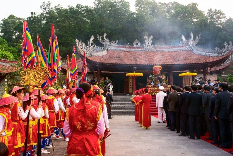 One of many ceremonies at the King Hung Temple Festival