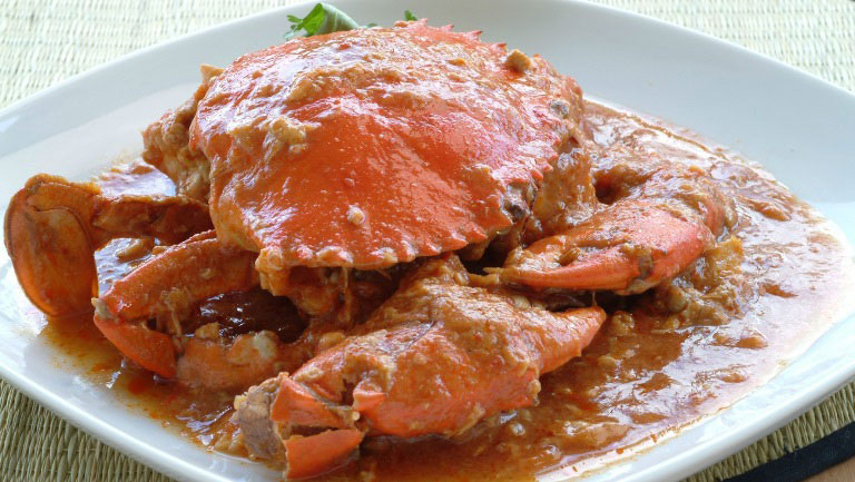 Chilli crab is a relatively modern dish invented by Singaporean Madam Cher Yam Tian in 1950.