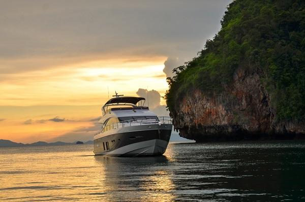 Yacht off Phuket, Thailand