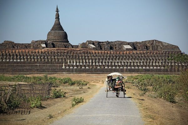 Road in Mrauk U, Myanmar