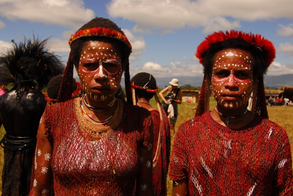 Papuans at Baliem, Indonesia
