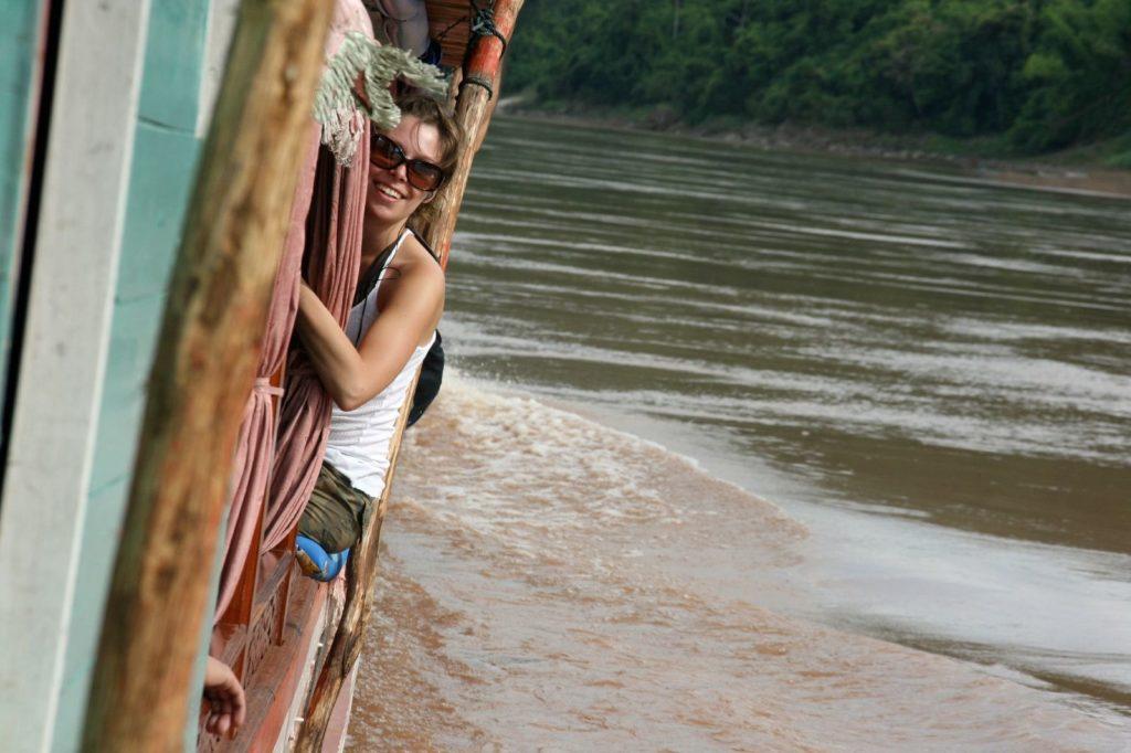 Melissa on the Mekong River, Laos. Matthew Klein / Creative Commons