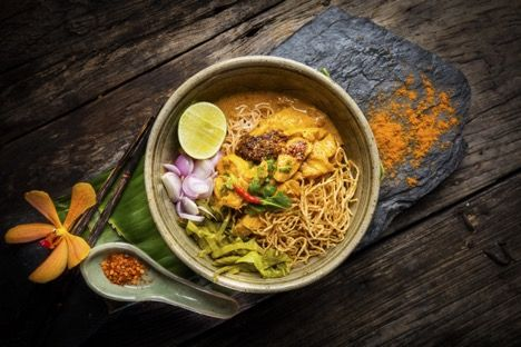 Khao soi, Northern Style Curried Noodle Soup with Chicken. Image: Tourism Authority of Thailand
