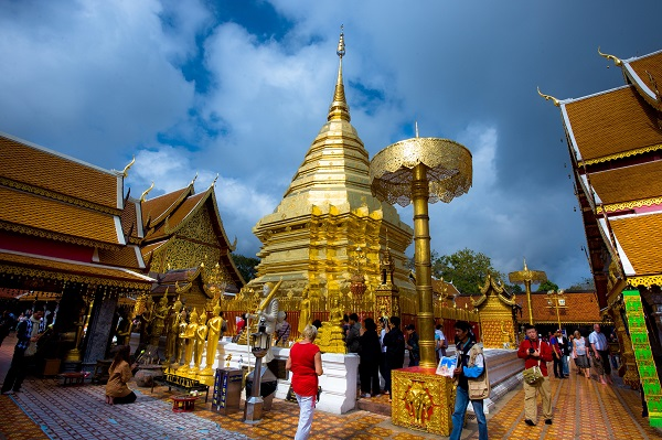 Temple in Chiang Mai. Image courtesy of the Tourism Authority of Thailand.