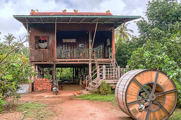 Koh Trong, Cambodia homestay. Image courtesy of Teresa Gomez.