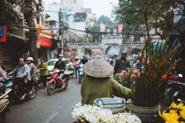 On the streets of Hanoi, Viet Nam