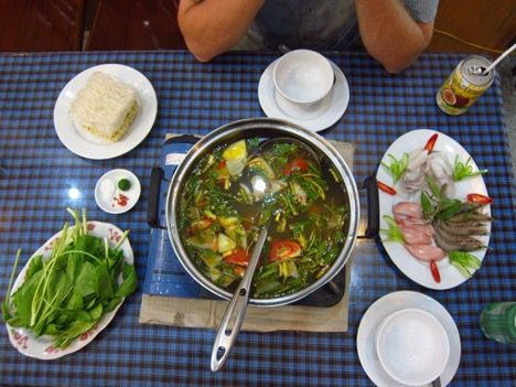 Seafood hotpot on Cat Ba Island