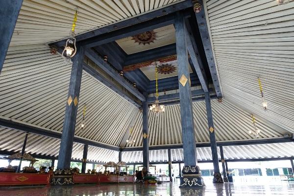 Pavilion in Kraton, Yogyakarta, Indonesia