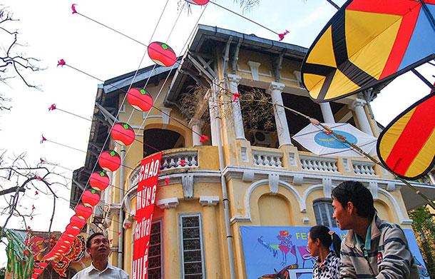 Khoi TranHue Festival street decorations