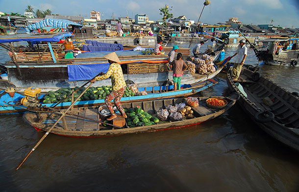 Floating Market off Can Tho