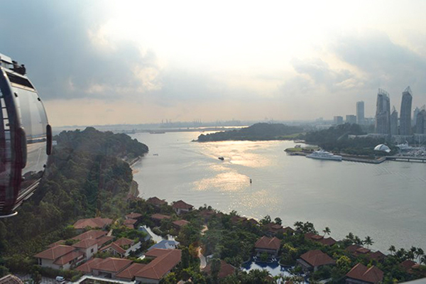 View of Singapore from Mount Faber cable car. Image courtesy of Allan Wilson.
