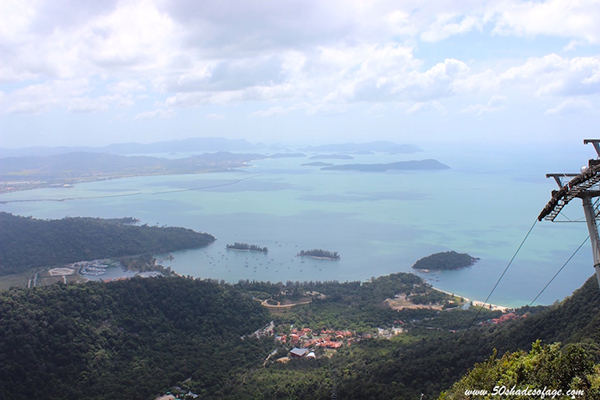 Langkawi from a birds' eye view. Image courtesy of Kathy Marris.