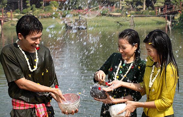 Songkran celebrations. Image courtesy of the Tourism Authority of Thailand.