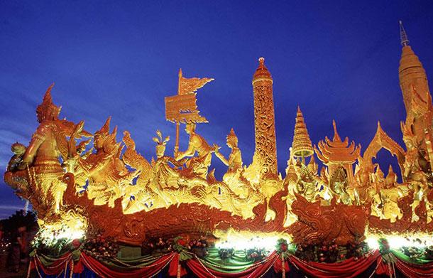 Ubon Ratchathani float. Image courtesy of the Tourism Authority of Thailand.