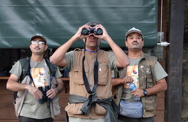 Bird watchers in Sabah, Malaysia