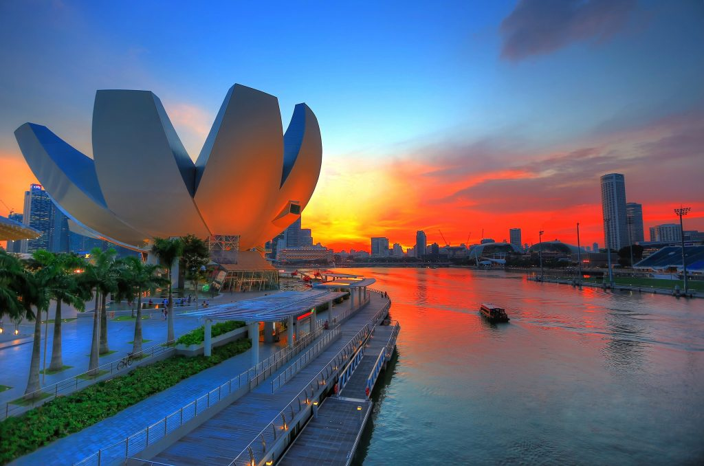 "The ""welcoming hand"" shape created by the ten-petaled ArtScience Museum has become an instant icon of Singapore. Visit SoutheastAsia."