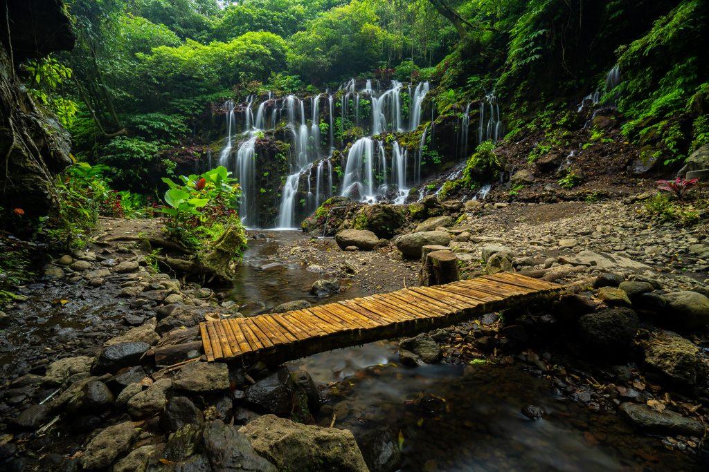 Banyu Wana Amertha Waterfalls in Bedugul. Visit SoutheastAsia.